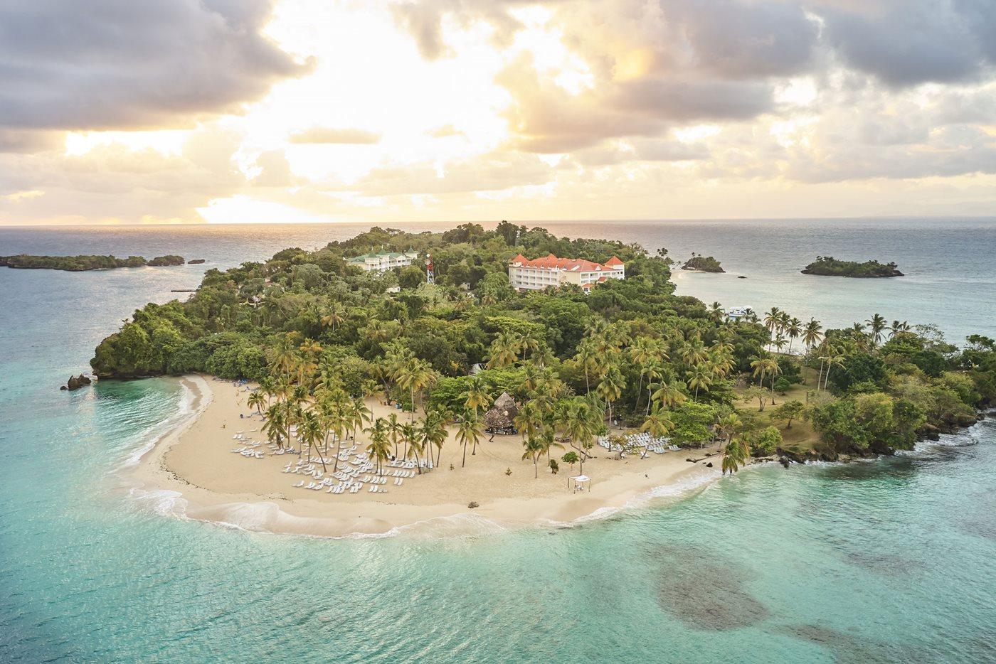 Aerial view, Bahia Principe Luxury Cayo Levantado, Samana