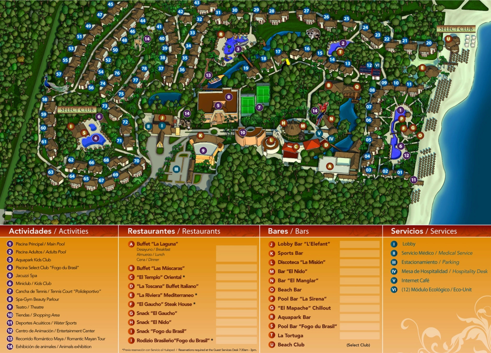 Sandos Caracol Eco Resort Map Sandos Caracol Eco Resort   Riviera Maya | Transat