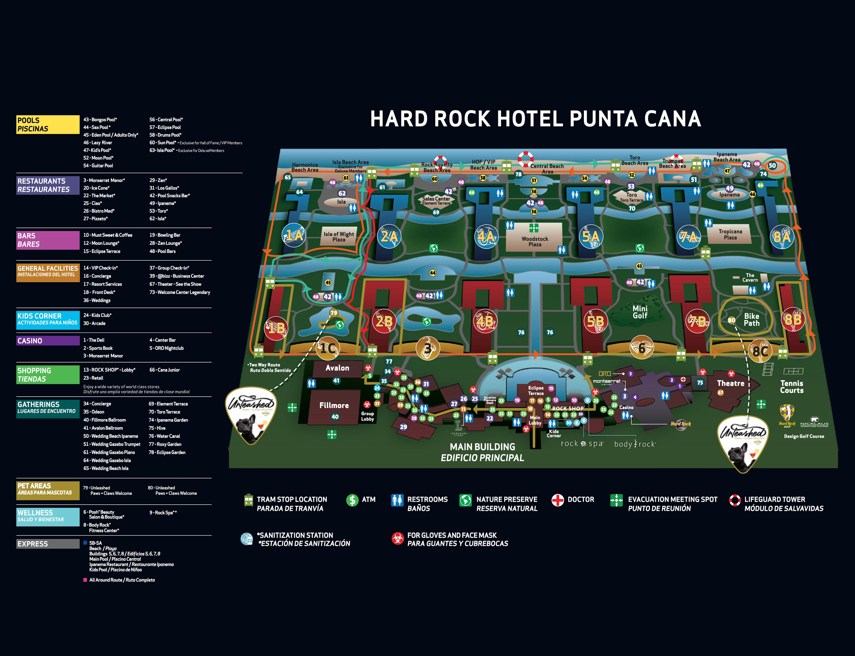 Hard rock hotel casino punta cana map how to win at american roulette