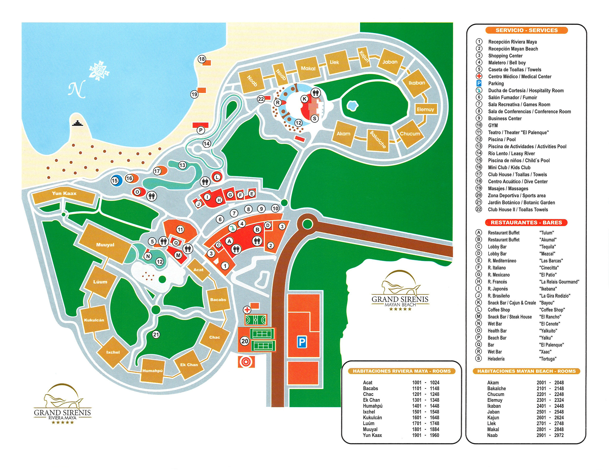 Grand Sirenis Mayan Beach Hotel Spa Riviera Maya – Map of Mexico Holiday Resorts